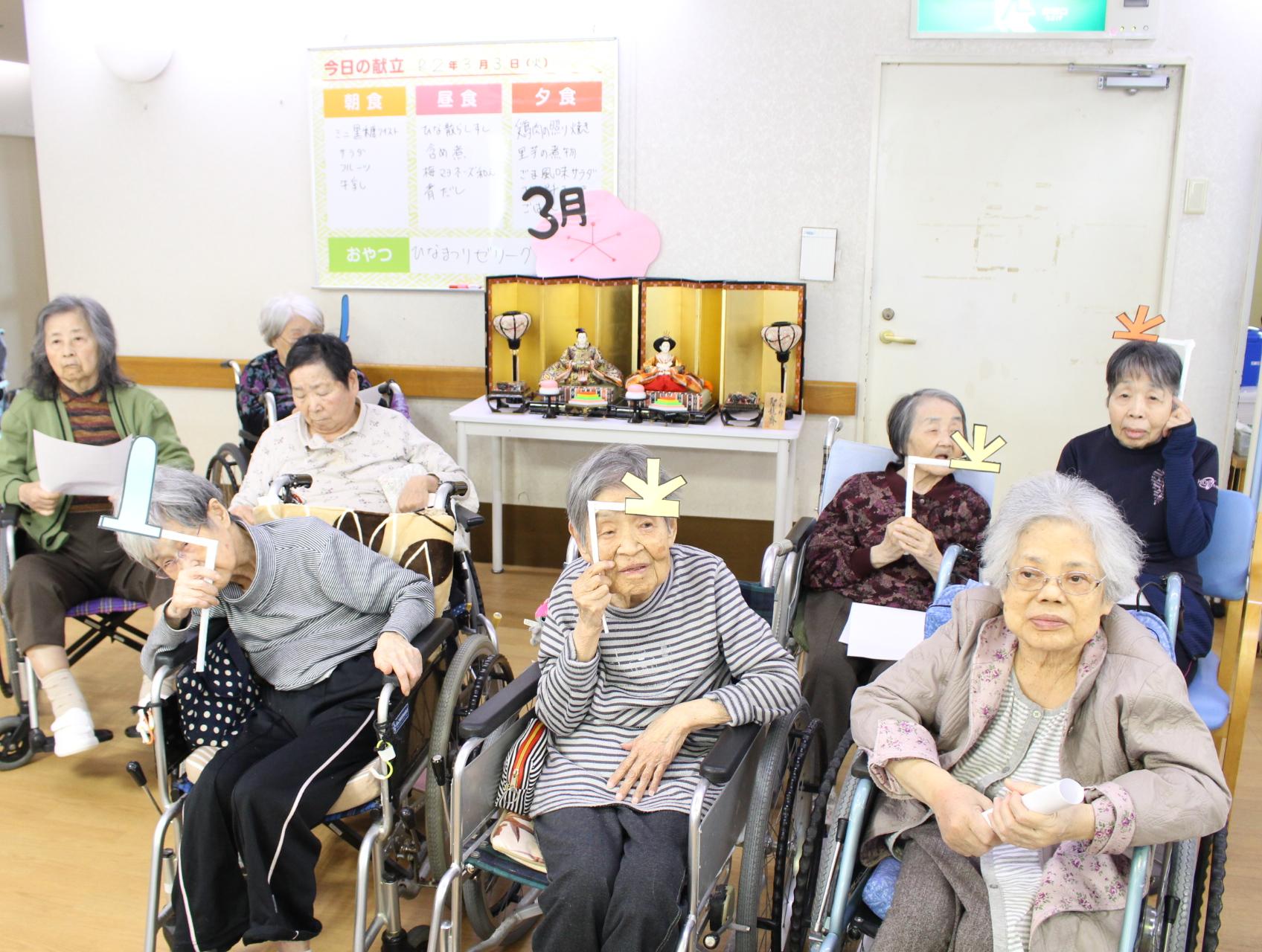 """介護老人保健施設オアシス 入所介護 """"ひな祭り""""を開催しました2"""