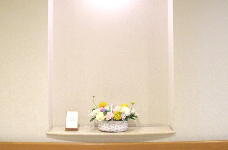 介護老人保健施設オアシスの生け花(弥生の参) 1階:「木の芽」/ 2階:「ピクニック」 5