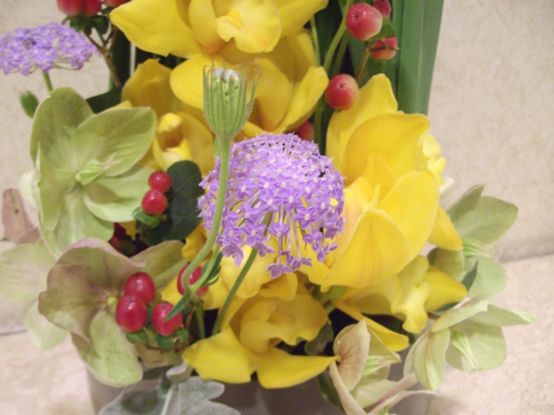 介護老人保健施設オアシスの生け花(弥生の壱)  2階:「かまくら」3