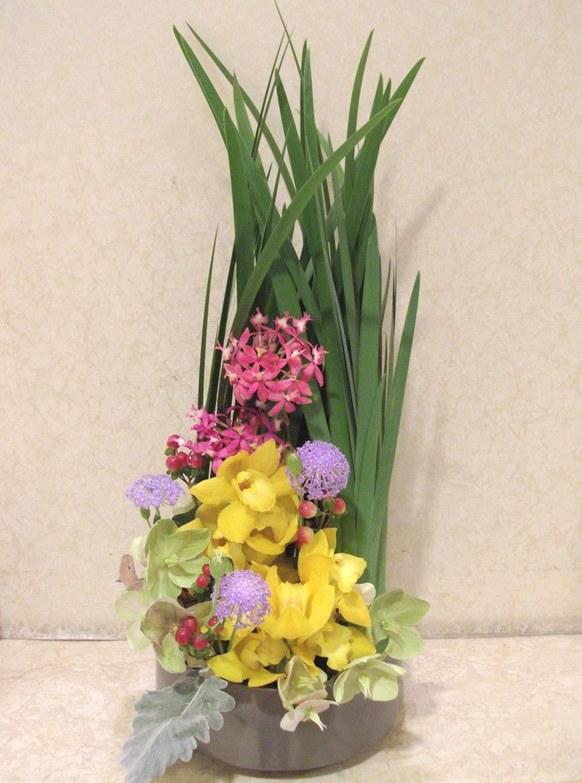 介護老人保健施設オアシスの生け花(弥生の壱)  2階:「かまくら」4