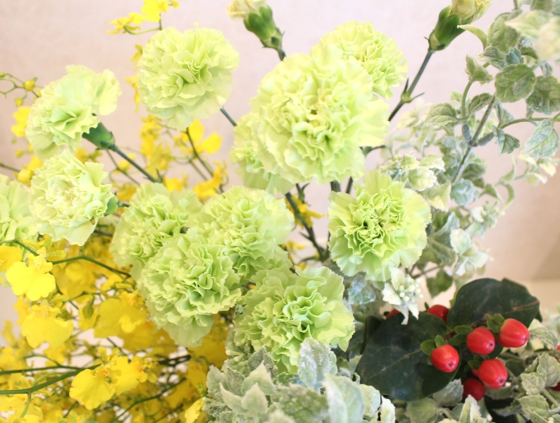 木下内科クリニックの生け花(卯月の弐):「風光る」3